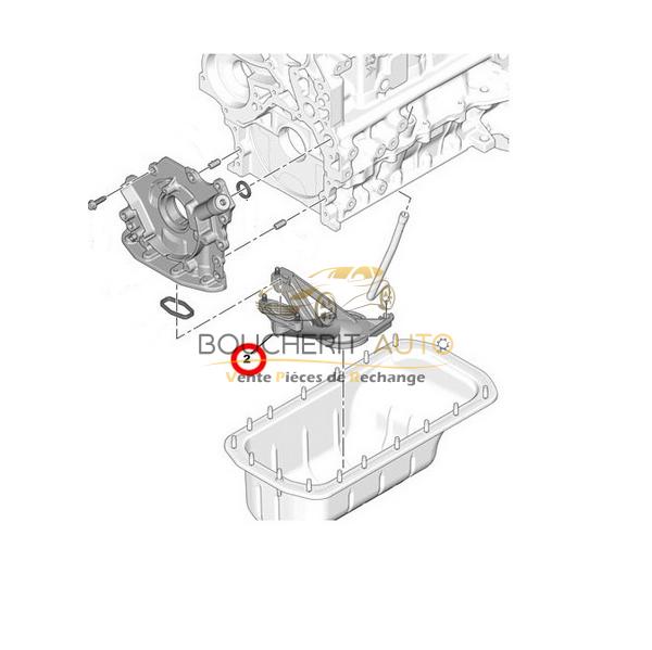 Crepine Pompe a huile Peugeot 5008 1.6 Hdi = 101866